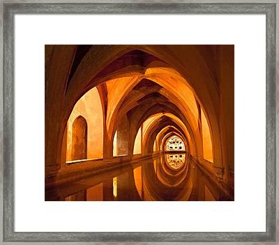 Alcazar Cave Galleries Seville Framed Print by Viacheslav Savitskiy