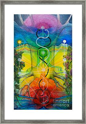 Alchemical Door Framed Print by Colleen Koziara