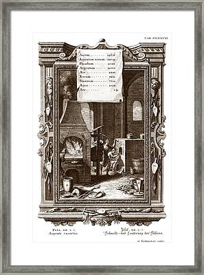 Alchemical Elements, 18th Century Framed Print by Science Photo Library