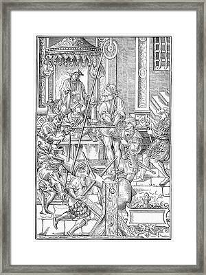 Alchemist Being Tortured Framed Print by Cci Archives