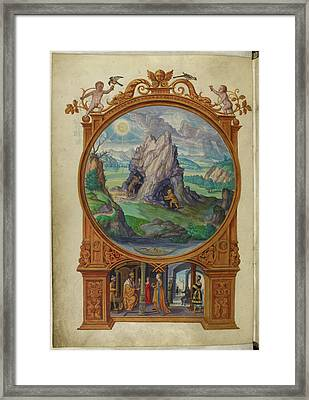 Alchemists Searching For Gold Framed Print by British Library