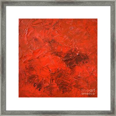 Alchemy In Red - Red Abstract By Chakramoon Framed Print by Belinda Capol
