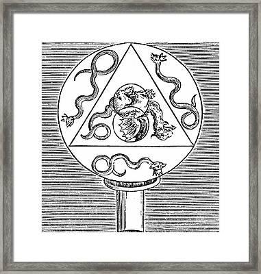 Alchemy Symbols Framed Print by Universal History Archive/uig