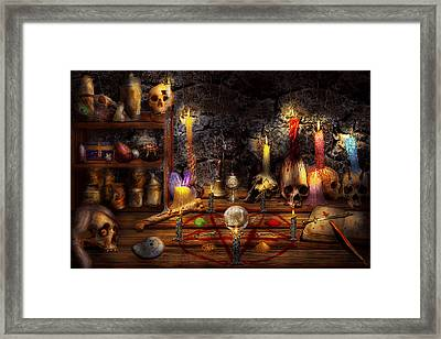 Alchemy - That Old Black Magic Framed Print by Mike Savad