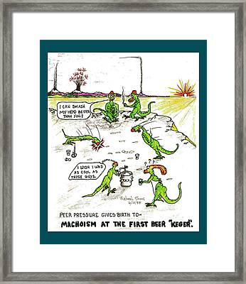 Alcohol And Teens Alcoholism Framed Print