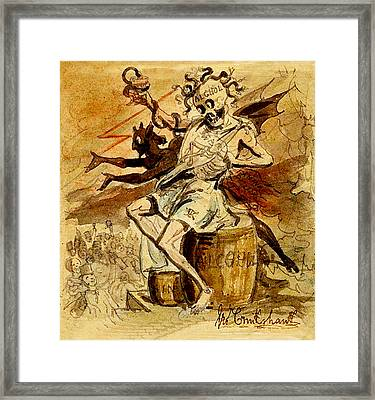 Alcohol Death And The Devil Framed Print
