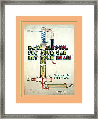 Alcohol For Car Not Brain Poster Framed Print