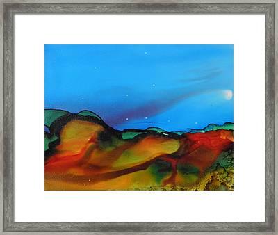 Alcohol Ink Landscape # 134 Framed Print