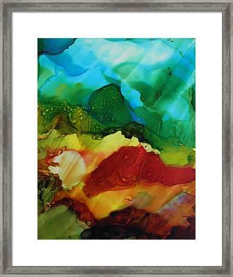 Alcohol Ink Landscape # 157 Framed Print