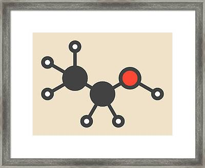 Alcohol Molecule Framed Print by Molekuul