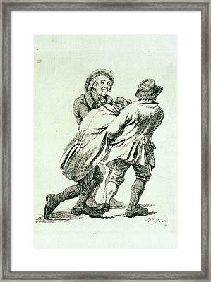 Alcoholic Being Lead Home Framed Print by George Bernard/science Photo Library