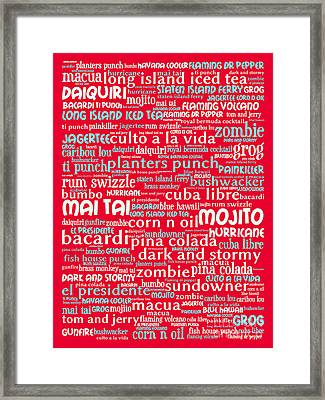 Alcoholic Beverages - Rum 20130627p120 Framed Print