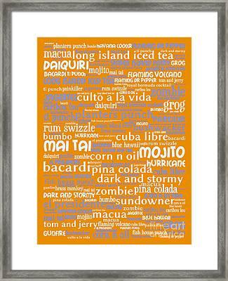 Alcoholic Beverages - Rum 20130627p168 Framed Print