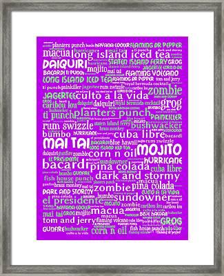 Alcoholic Beverages - Rum 20130627p60 Framed Print