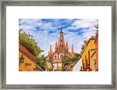 Aldama Street Parroquia Archangel Church Framed Print