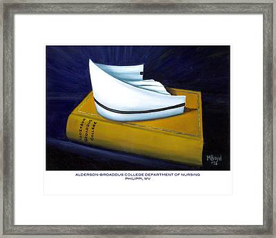 Framed Print featuring the painting Alderson-broaddus College by Marlyn Boyd