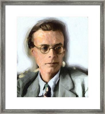 Aldous Huxley Framed Print by Celestial Images