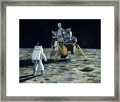 Aldrin Joins Armstrong Framed Print