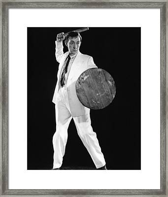 Alec Guinness In The Man In The White Suit  Framed Print