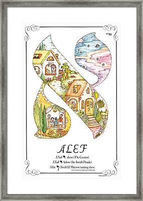 Alef Poster Framed Print by Michoel Muchnik