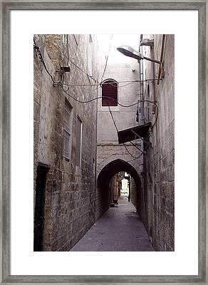Aleppo Alleyway04 Framed Print by Mamoun Sakkal