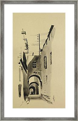 Aleppo Old City Alleyway 1 Framed Print
