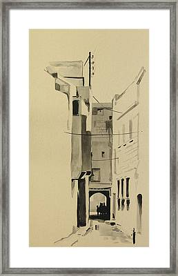 Aleppo Old City Alleyway 2 Framed Print