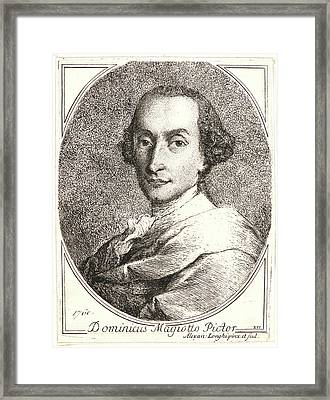 Alessandro Longhi Italian, 1733 - 1813. Portrait Framed Print by Litz Collection