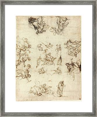 Alessandro Maganza, Italian 1556-1640, A Compartmented Framed Print