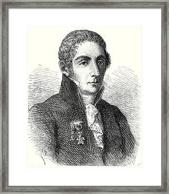 Alessandro Volta Framed Print by English School