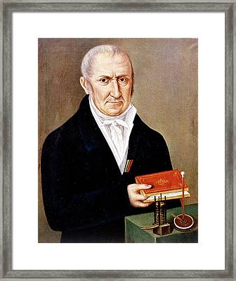 Alessandro Volta Framed Print by Universal History Archive/uig