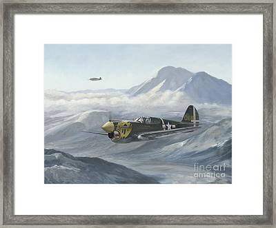 Framed Print featuring the painting Aleutian Tiger by Stephen Roberson