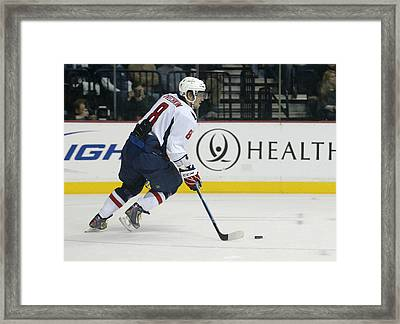 Alex Ovechkin Framed Print by Don Olea
