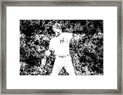 Alex Rodriguez 2b Framed Print by Brian Reaves