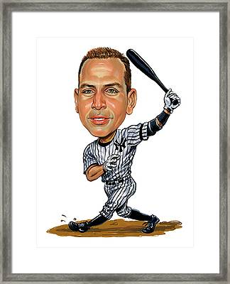 Alex Rodriguez Framed Print by Art