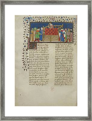 Alexander Addresses His People Framed Print by British Library