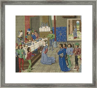 Alexander And Niece Of Artaxerxes IIi Framed Print by Getty Research Institute