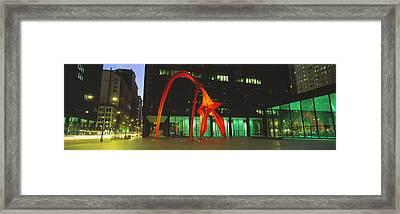 Alexander Calder Flamingo, Chicago Framed Print by Panoramic Images