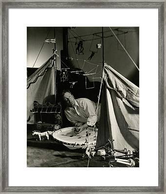 Alexander Calder In His Studio Framed Print by George Hoyningen-Huene