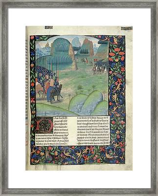 Alexander Confronts Darius IIi Framed Print by British Library