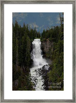 Framed Print featuring the photograph Alexander Falls by Rod Wiens