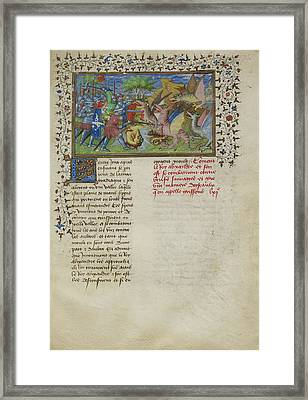 Alexander Fights Dragons Framed Print by British Library