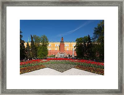 Alexander Garden And Arsenal Walls Framed Print by Panoramic Images