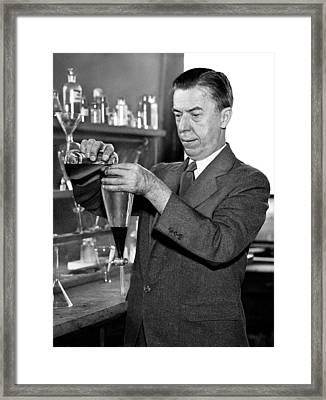 Alexander Gettler, American Forensic Framed Print by Science Source