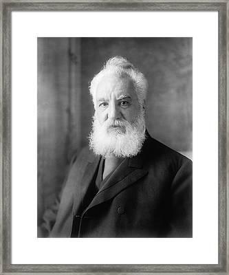 Alexander Graham Bell Framed Print by Harrie & Ewing