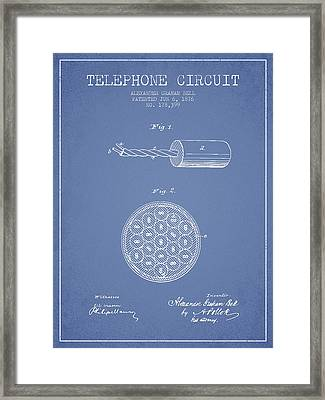 Alexander Graham Bell Telephone Circuit Patent From 1876 - Light Framed Print