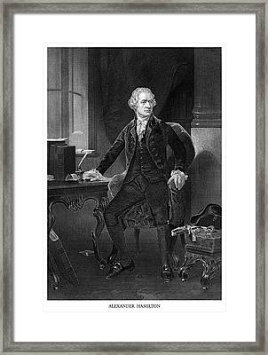 Alexander Hamilton Framed Print by Historic Image