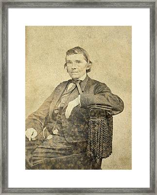 Alexander Hamilton Stephens, Us Framed Print by Everett