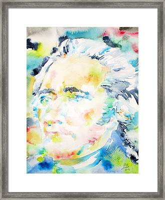Alexander Hamilton - Watercolor Portrait Framed Print