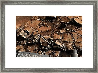 Alexander Hills Bedrock In Mars Framed Print